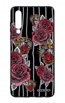 Cover Bicomponente Huawei P30 - Rose e tigri tattoo