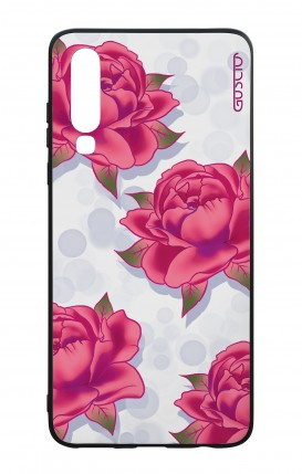 Huawei P30 WHT Two-Component Cover - Rose pattern