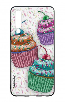 Huawei P30 WHT Two-Component Cover - Cupcakes