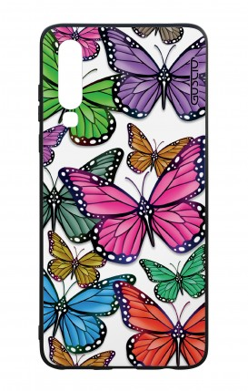 Huawei P30 WHT Two-Component Cover - Vivid butterflies Pattern