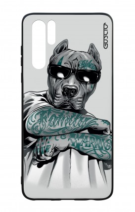 Huawei P30PRO WHT Two-Component Cover - Tattooed Pitbull