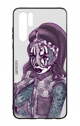 Huawei P30PRO WHT Two-Component Cover - Chicana Pin Up Clown