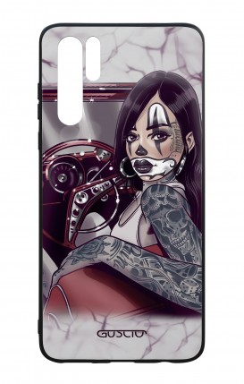 Cover Bicomponente Huawei P30PRO - Pin Up Chicana in auto
