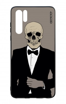 Huawei P30PRO WHT Two-Component Cover - Tuxedo Skull