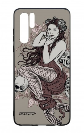 Huawei P30PRO WHT Two-Component Cover - Mermaid with skulls