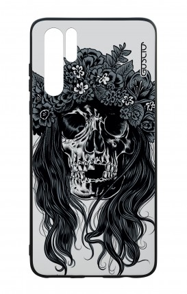 Huawei P30PRO WHT Two-Component Cover - Skull with flowers