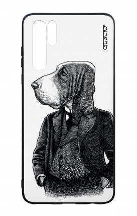 Huawei P30PRO WHT Two-Component Cover - Dog in waistcoat