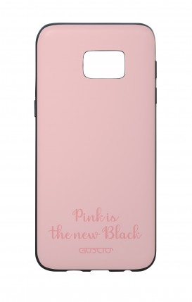 Cover Bicomponente Samsung S7 Edge - Pink is the new Black