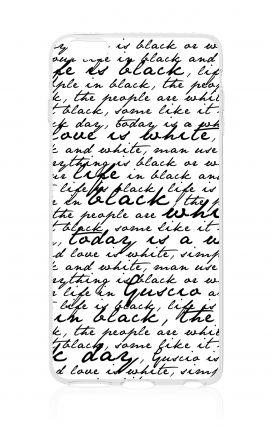Cover Wiko Sunset 2 - Scritte in bianco e nero