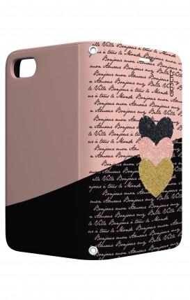 Cover STAND Apple iphone 7/8 - Scritte e Cuori rosa nero