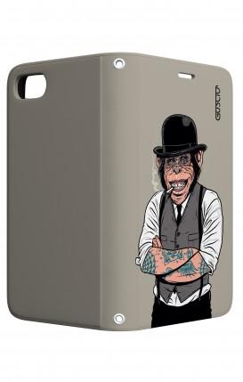 Cover STAND Apple iphone 7/8 - Scimmia con bombetta