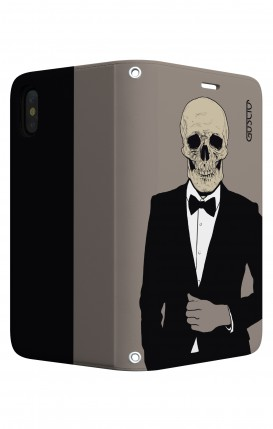 Case STAND Apple iphone X/XS - Tuxedo Skull
