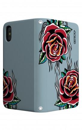 Cover Bicomponente Apple iPhone XR - Rose e righe