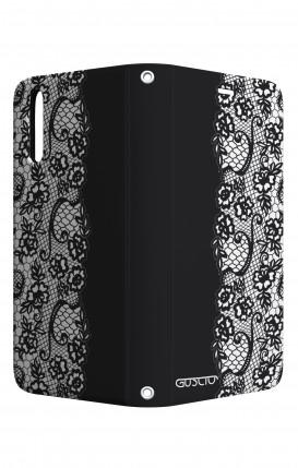 Case STAND Huawei P20 - Pizzo bianco e nero