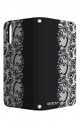 Cover STAND Huawei P20 - Pizzo bianco e nero