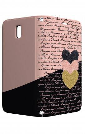 Case STAND Samsung J5 2017 - Hearts on words