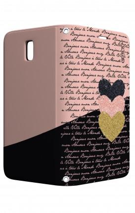 Cover STAND Samsung J5 2017 - Scritte e Cuori rosa nero