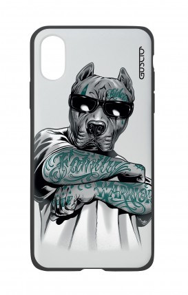 Apple iPh XS MAX WHT Two-Component Cover - Tattooed Pitbull