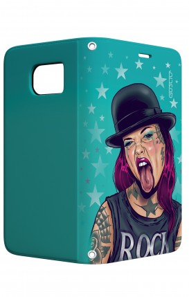 Cover STAND Samsung S7 Edge - Ragazza linguaccia