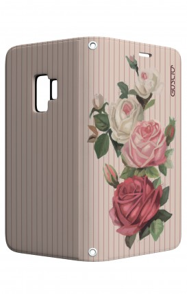 Cover STAND Samsung S9 - Rose e righe