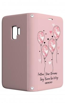 Case STAND Samsung S9 - Pink Balloon