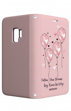 Cover STAND Samsung S9 - Palloncini rosa