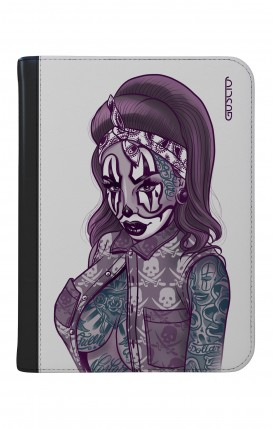 """Case UNV TABLET 9-10"""" WHT/BLK - Chicana Pin Up Clown"""