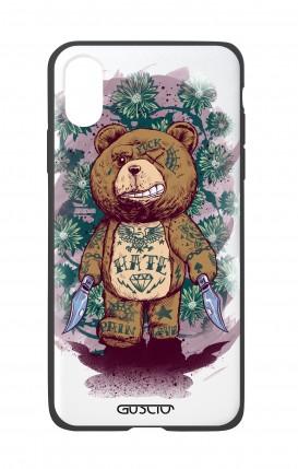 Apple iPh XS MAX WHT Two-Component Cover - WHT Killin' Teddy