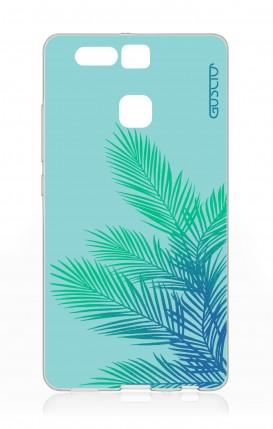 Cover Huawei P9 - Foglie azzurre