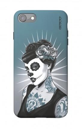 1. Cover Soft Touch Apple iPhone 7/8/SE - Calavera bianco e nero