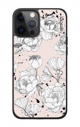 Cover TPU Apple iPhone 7/8  - Peonie rosa