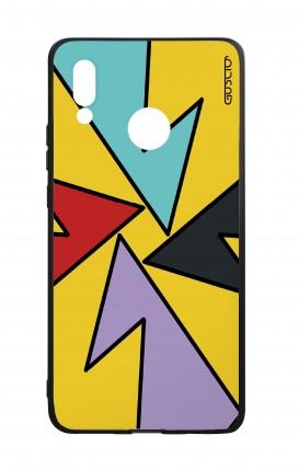 Cover Bicomponente Huawei P20Lite - Astratto giallo forme