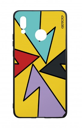 Huawei P20Lite WHT Two-Component Cover - Yellow Abstract with shapes