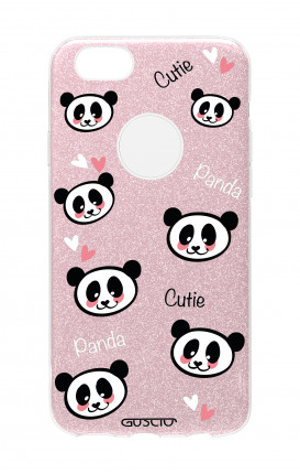 Cover GLITTER Apple iPhone 7Plus PNK - Cutie Panda