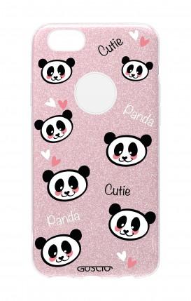 Cover GLITTER Apple iPhone 7Plus PNK - Cutie Panda