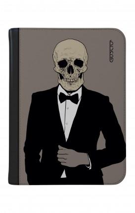 "Case UNV TABLET 9-10"" WHT/BLK - Tuxedo Skull"