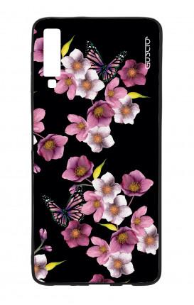 Cover Bicomponente Samsung A70  - Fiori di ciliegio