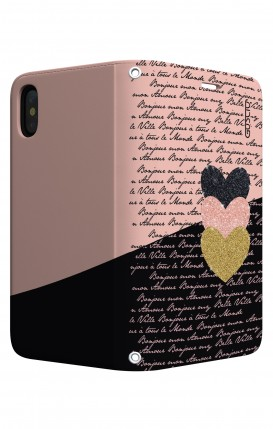 Case STAND Apple iphone XS MAX - Hearts on words