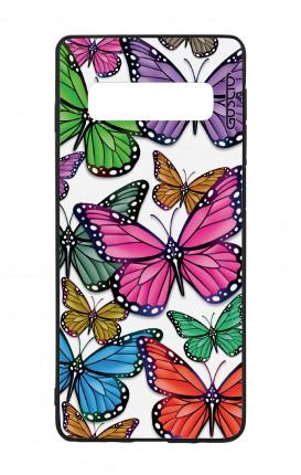 Samsung S10Plus WHT Two-Component Cover - Vivid butterflies Pattern