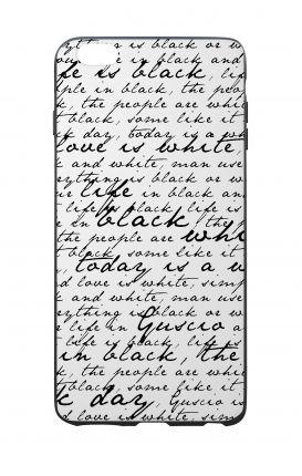 Cover Bicomponente Apple iPhone 6 Plus - Scritte in bianco e nero