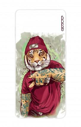 Cover Samsung S10 - Tigre Hip Hop bianco