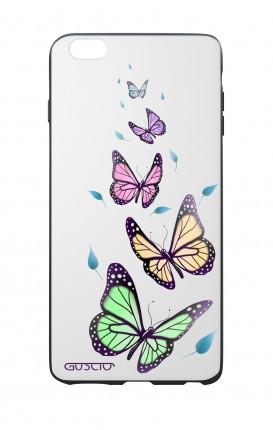 Cover Bicomponente Apple iPhone 6 Plus - Farfalle e foglie