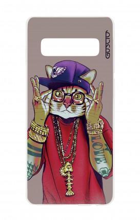 Cover TPU Samsung S10 - Gatto Rapper