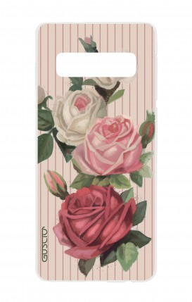 Cover Samsung S10 - Roses and stripes