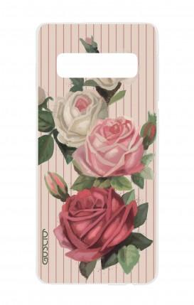Cover TPU Samsung S10 - Rose e righe
