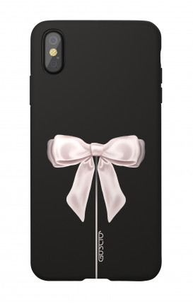 Soft Touch Case Apple iPhone XR - Satin White Ribbon