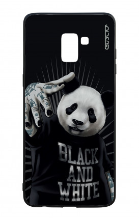 Samsung A8 2018 WHT Two-Component Cover - B&W Panda