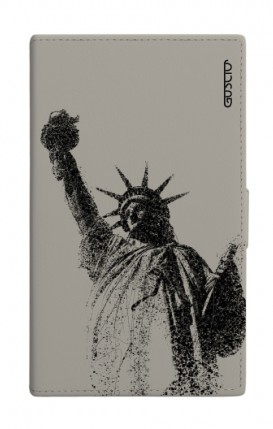 "UNV BOOK 4.7-5.1"" PU LTH GREY TG M (Tall) - Statue of Liberty"