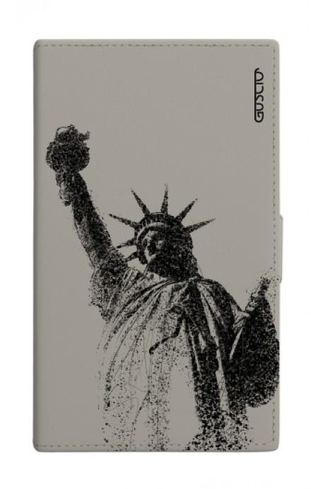 Cover Universal Casebook size3 GREY - Statua della libertà