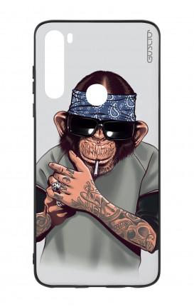 Cover Bicomponente Xiaomi Redmi Note 8T - Scimpanze con bandana